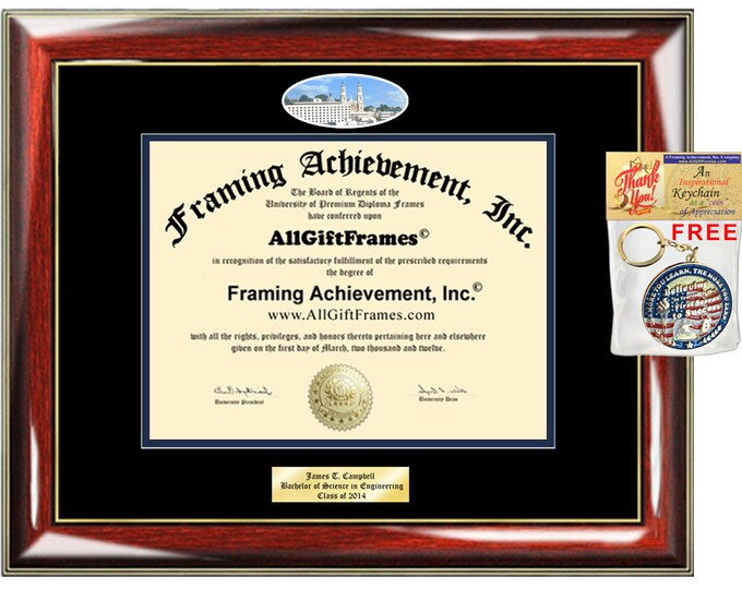 USF diploma frame University San Francisco campus picture degree Personalized Bachelor Master Doctorate phd mba Engrave Holder Case