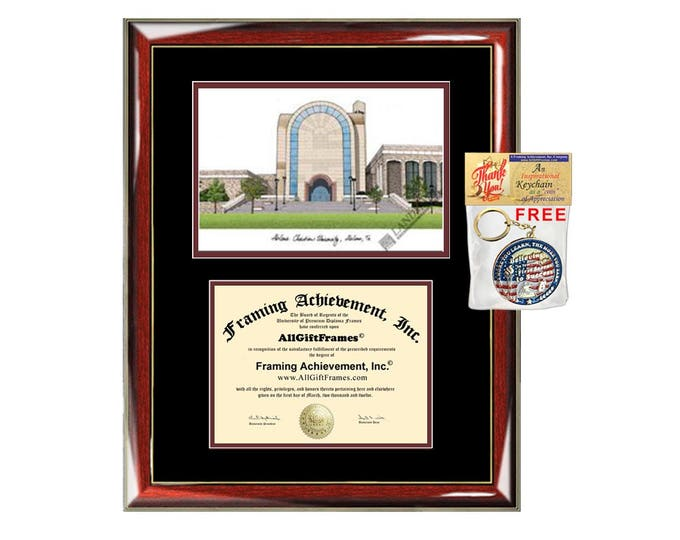 Abilene Christian University diploma frames lithograph ACU degree frame campus image certificate framing graduation gift college plaque grad