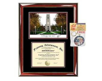 University of Toledo diploma frames lithograph Toledo frame campus image sketch certificate framing graduation degree gift college graduate