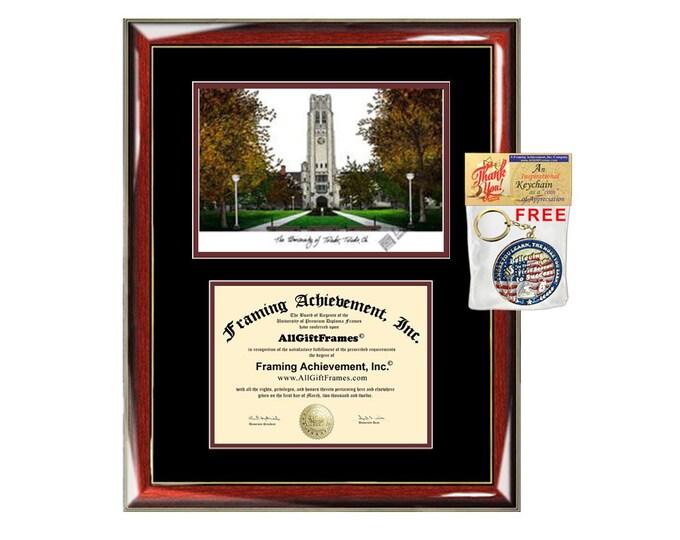 University of Toledo diploma frames lithograph Toledo frame campus image sketch certificate framing graduation degree gift college graduate