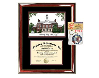 Eastern Kentucky University diploma frame lithograph EKU certificate frames graduation degree framing college document gift campus image