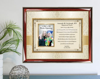 Congratulation Nursing School Graduation Gift College Picture Frame Graduate Photo Registered Nurse Practitioner RN BSN MSN dnp lpn Present