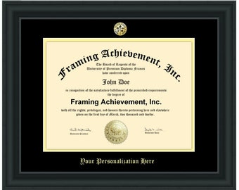 College Diploma Frames University Graduation Gifts Graduates Satin Matte Black Top mat Black Inner mat Gold Certificate Frame Degree Plaque