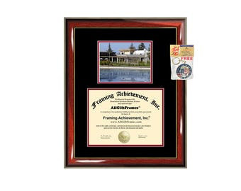 Cal State Stanislaus diploma frame California State University Stanislaus certificate graduation gift college plaque framing campus photo