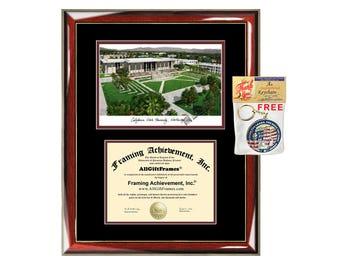 CSUN diploma frames lithograph campus sketch California State University Northridge frame certificate framing graduation degree Cal State