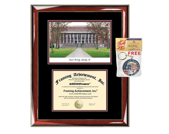 Harvard University diploma frame lithograph campus image Harvard certificate degree frames framing gift graduation plaque college graduate