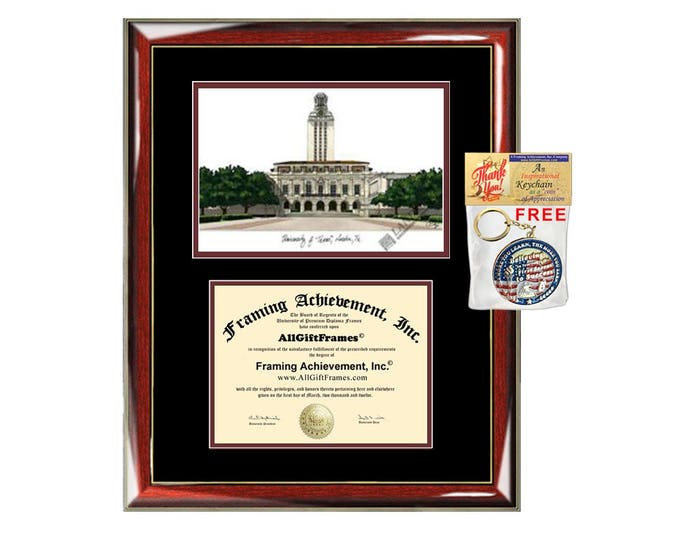 University of Texas Austin diploma frames UT Austin lithograph frame campus sketch framing University frames graduation degree gift college