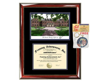 ODU diploma frames Old Dominion University lithograph frame certificate framing campus image graduation degree gift college graduation case