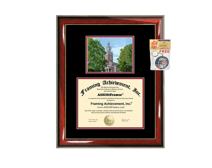 Denison University diploma frame Denison degree frames framing gift graduation plaque document campus certificate graduate alumni