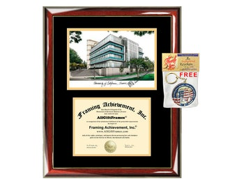 UCI diploma frames campus sketch University of California Irvine lithograph frame certificate framing graduation degree gift college UCI