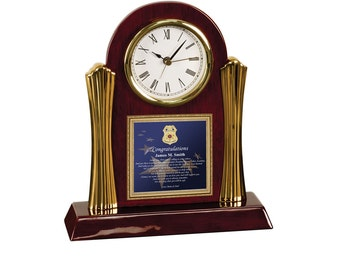 Law Enforcement Academy Graduation Cherry Clock Sheriff Police School Graduate Gift Present Student Policeman Officer