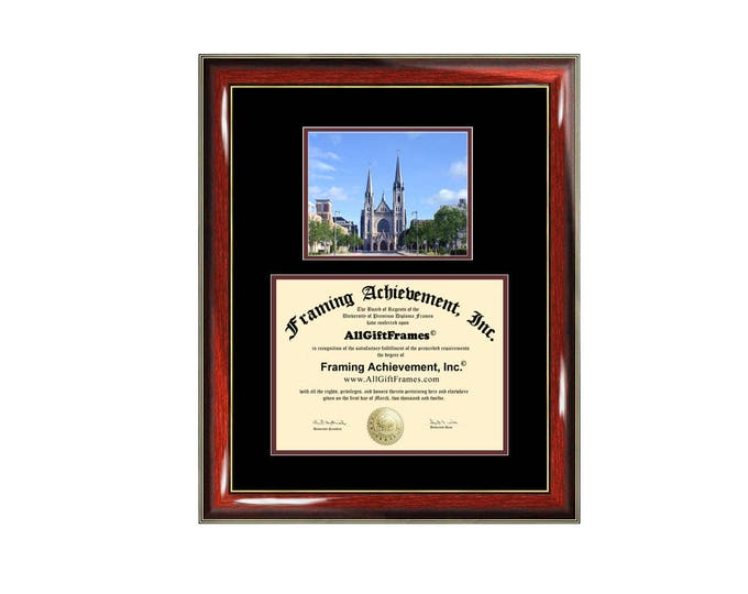 Marquette University diploma frame campus picture degree frames certificate framing gift graduation plaque document certification graduate