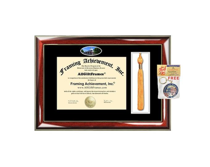 University of North Georgia diploma frame UNG tassel box holder school campus photo  bachelor master mba phd framing certificate