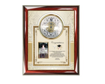 Graduation Picture Frame Gift New Doctor Physician Personalized Poetry Clock Medical School Optometry Dental Pharmacy Present Graduate