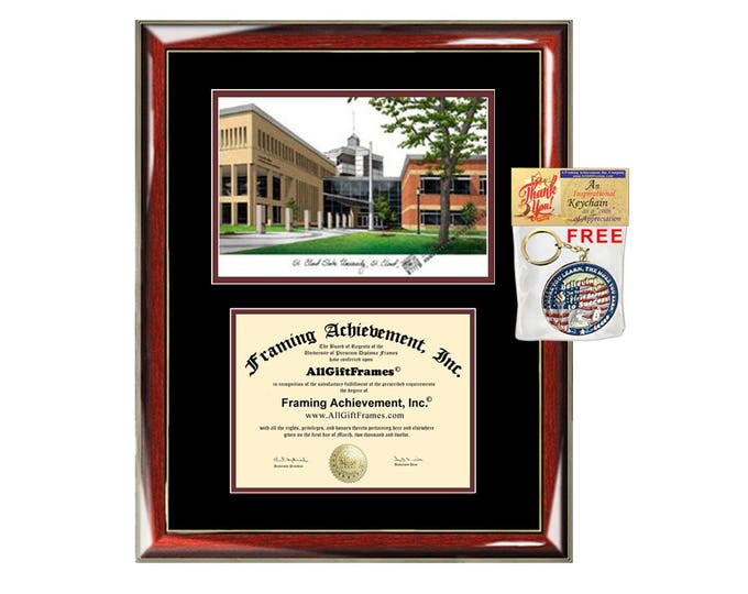 St. Cloud State University diploma frames Saint Cloud lithograph frame sketch certificate framing graduation degree gift college plaque