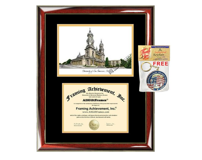 University San Francisco diploma frames lithograph USF frame campus image certificate framing graduation degree gift college case graduate
