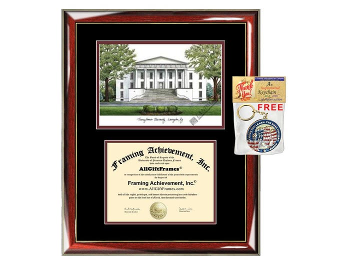 Transylvania University diploma frames lithograph Transylvania degree frame campus image certificate framing graduation gift college plaque