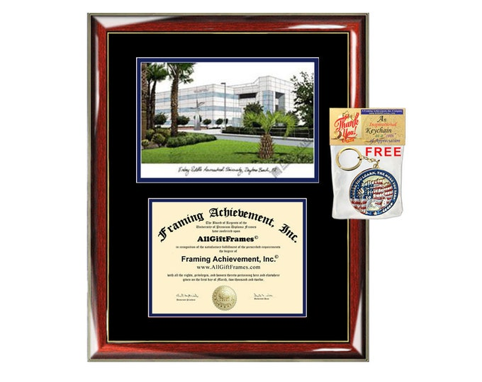 ERAU diploma frames lithograph Embry-Riddle Aeronautical University frame certificate framing graduation degree gift college Embry Riddle