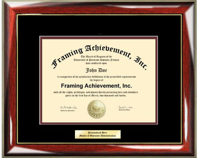 Graduation Diploma Frames - College Diploma Framing Gifts Certificate Frames Top matted Black Inner Maroon Glossy Prestige Gold Accents