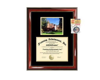 Millersville University of Pennsylvania diploma frame campus certificate degree Millersville frames framing gift graduation plaque document