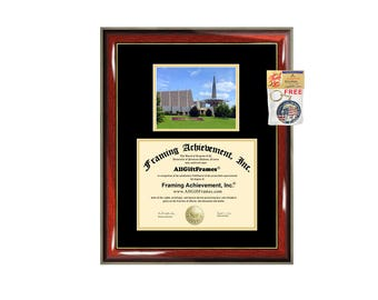 Oral Roberts University diploma frame ORU degree framing gift campus certificate graduation frames plaque document certification