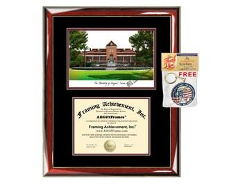 University of Arizona diploma frames Arizona lithograph frame sketch certificate framing graduation degree gift college plaque graduate