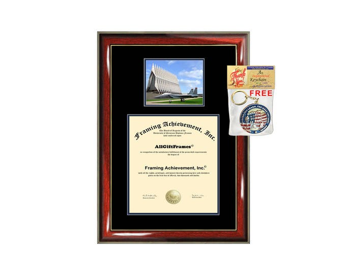 USAFA diploma frame campus photo United States Air Force Academy certificate framing graduation document plaque degree gift graduate case