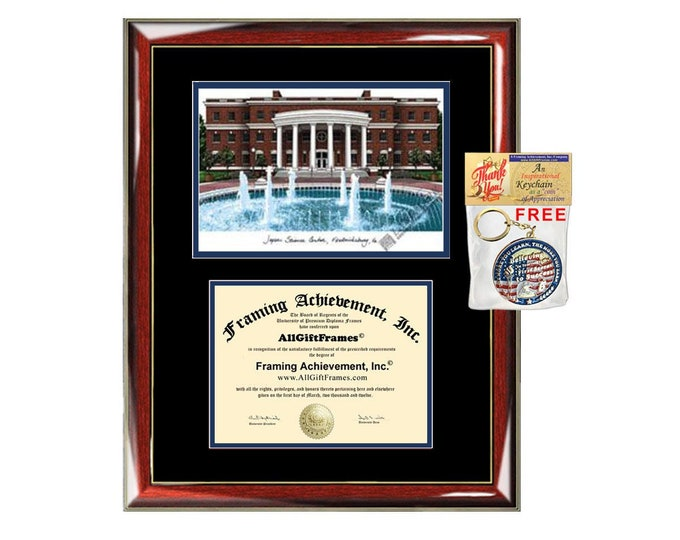 University of Mary Washington diploma frame lithograph UMW campus image certificate degree frames framing gift graduation plaque college