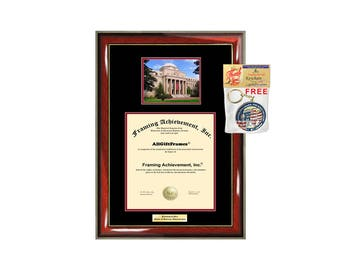 University of South Carolina diploma frame campus photo Personalized Bachelor Master Doctorate phd mba Engrave Holder Case