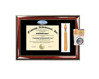 Wake Forest University diploma Diploma Tassel Holder WFU box campus picture framing graduation degree graduate gift college plaque