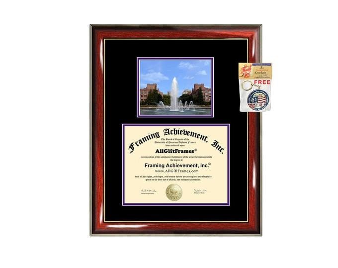 University of Washington diploma frame UW certificate framing graduation degree plaque graduation document picture frame campus photo