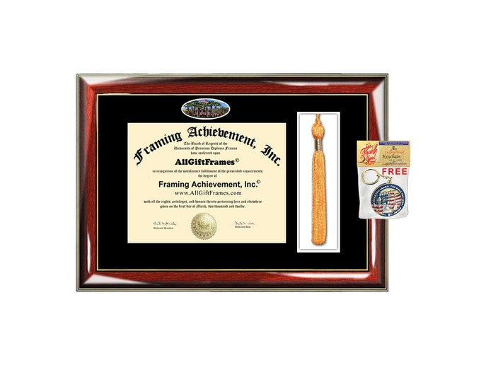 USF diploma frame University of South Florida Diploma frames Tassel Box Holder campus picture framing graduation degree gift college plaque