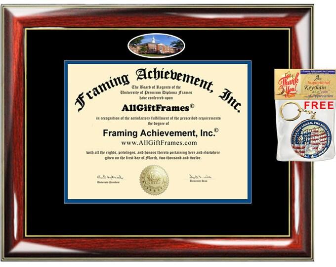 Louisiana Tech University diploma frame LTU campus photo degree certificate school picture framing graduation gift grad bachelor master mba