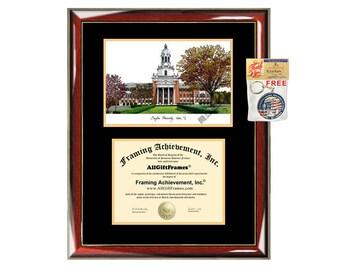 Baylor University diploma frame lithograph campus image Baylor certificate degree frames framing gift graduation plaque college holder case