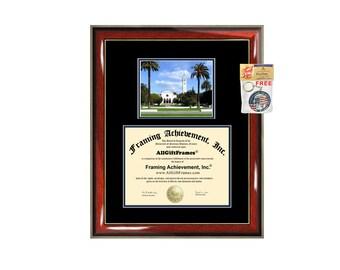 LMU diploma frame campus picture Loyola Marymount University certificate framing campus photo graduation graduation document college plaque