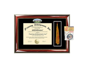 Loyola University diploma frames New Orleans tassel framing holder case school graduation tassel box gift graduate degree plaque case grad