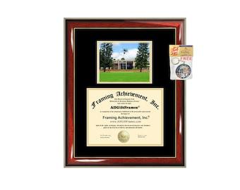 University of Hawaii diploma frame campus photo certificate framing graduation document college degree plaque graduate document