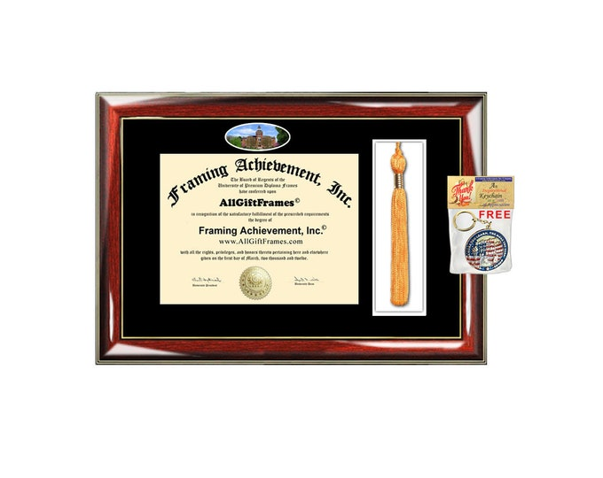 Michigan State University diploma frame tassel degree box holder school campus MSU certificate degree graduation plaque graduate gift tassle