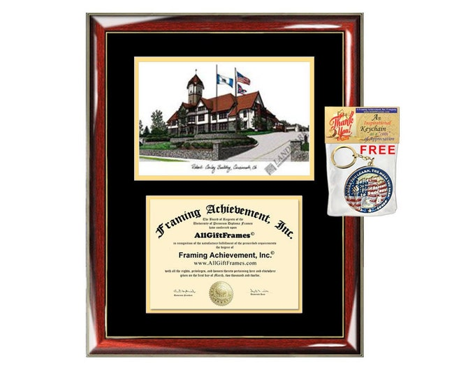Union Institute University diploma frames lithograph UI&U frame campus image sketch certificate framing graduation degree case holder grad