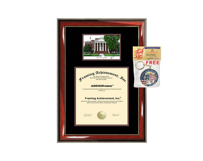 Lynchburg College diploma frame lithograph campus image Lynchburg certificate degree frames framing gift graduation plaque college graduate