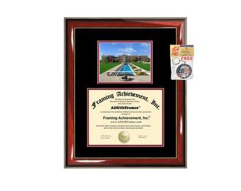 University of Indianapolis diploma frame campus photo certificate framing graduation document college degree plaque graduate document