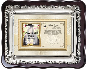 Thank you parents and family for school education college support from graduation student. Picture frame poem thanks mother father message