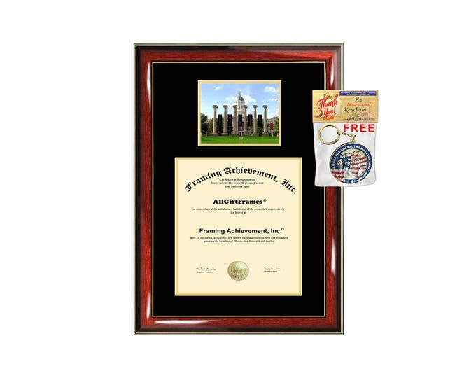University of Missouri Columbia diploma frame campus picture certificate Missouri Columbia degree frames framing gift graduation plaque