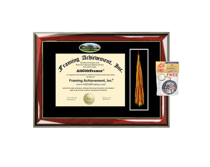 Embry-Riddle Aeronautical University Diploma Frame ERAU Tassel Holder Box Certificate Graduation Degree Gift College Case Custom Grad Plaque