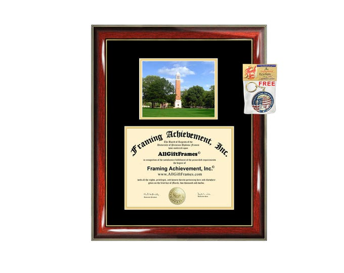 University of Alabama Tuscaloosa diploma frame campus degree certificate framing gift UAT graduation photo document plaque certification