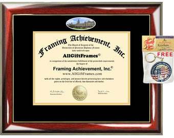 Georgetown University diploma frame degree frames framing campus photo graduation gift certificate plaque bachelor masters phd doctorate mba