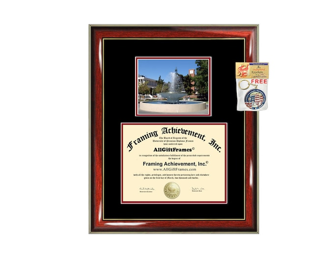 Fresno State University diploma frame certificate framing graduation Cal State gift college campus photo California State University Fresno