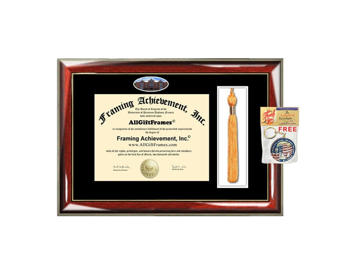 Tiffin University diploma frame tassel box framing holder degree tassle holder certificate graduation gift school campus picture document