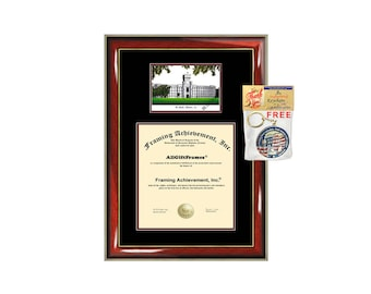 The Citadel diploma frame lithograph campus image Citadel certificate degree frames framing gift graduation plaque college graduate bachelor