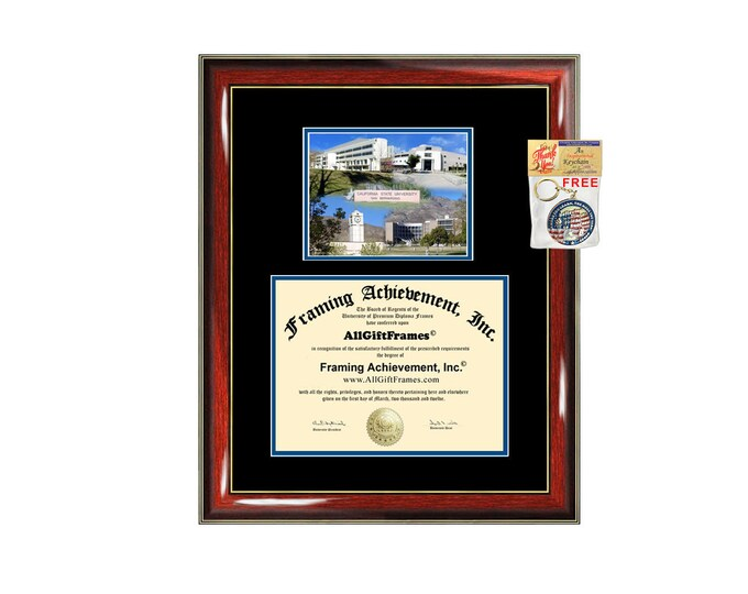 CSUSB diploma frame campus photo California State University San Bernardino certificate graduation gift Cal State college plaque framing